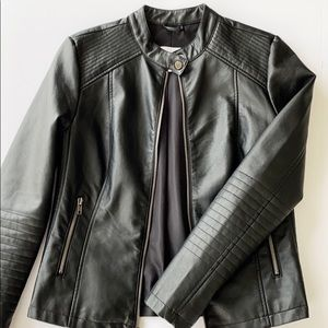 CUPCAKES AND CASHMERE FAUX LEATHER JACKET
